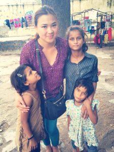 Nadezhda with children from JIYO.