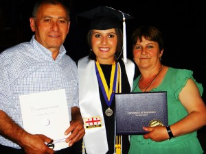 Darina with her parents