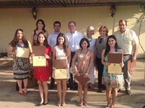 FLEX and other U.S. Government sponsored exchange program alumni together with Ambassador Morningstar