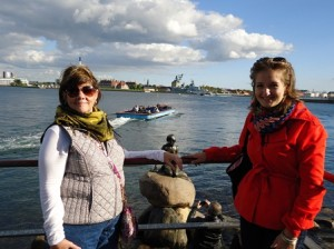 Maria Moskovko 7 with her host Mom Judy Maxwell small