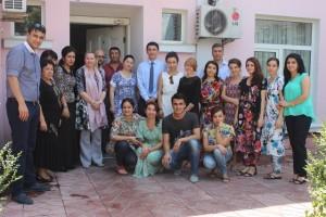 The staff of IOM mission in Tajikistan