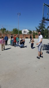 Marko Vignjevic - Marko Vignjevic ('14) playing basketball with children