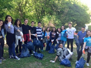 Nino Lortkipanidze - Participants cleaned up the monastery complex