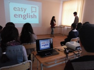 AZERBAIJAN SHEKI Easy English project by Fatima Huseynli FLEX'13. Students ansewing the trainer's question