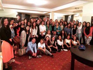Georgia, Tbilisi, Alumni after BBQ