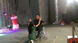 Tajikistan. Dushanbe. Wheel chair dancing