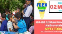 American Councils for International Education is pleased to announce the 2017-2018 FLEX Alumni Grants program. The FLEX Alumni Grants program assists with FLEX alumni project initiatives through funding by […]